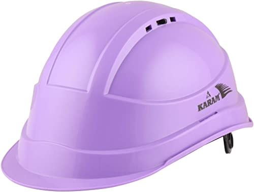 Karam ISI marked Shelblast safety helmet With plastic cradle peak (Ut Violet) PN542