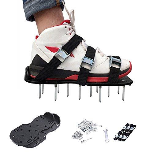 Zapatillas de jardín con pinchos epoxi, pintura para suelo, construcción de cemento de autonivelación, pinchos para jardín, arte, sandalias