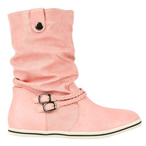 Japado - Stivali da donna per il tempo libero non imbottiti, in similpelle di alta qualità, numeri 36-41, Rosa (Colore: rosa.), 40 EU