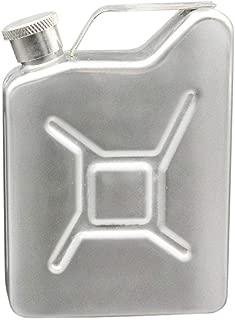 Goodtrade8 Hip Flask 5 OZ Flask Gas Can Tank Stainless Steel Screw Cap Hip Pocket Liquor Alcohol (Silver)