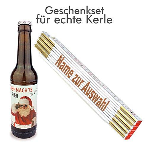 Weihnachten/Geschenk/Männer/Bier/Zollstock/Handwerker/Nikolaus, Zollstöcke Namen:Volker