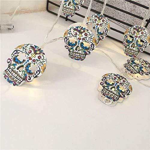 Mrinb Household LED Lights String Halloween Decoration Lights String Skull Shape 10 Lights