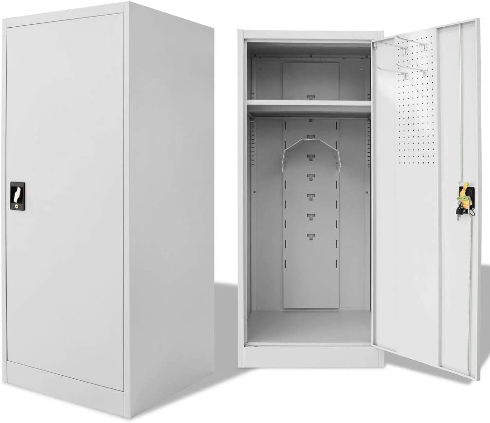 ZAMAX San Antonio Mall Lockable Steel Saddle Cabinet with S for Large Compartment Fresno Mall