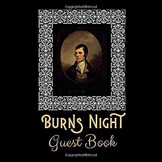 Guest Book: Memory Signature Guest Message Book Burns Night Celebration Scotland Tartan