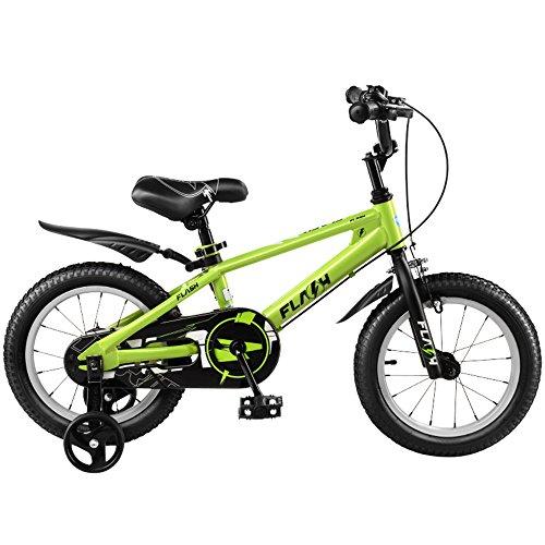 Kinderfiets Duo jongens fiets kinderfiets fiets fiets fiets voor jongens en meisjes, 12 inch, 16 inch, 95% gemonteerd, cadeau voor kinderen