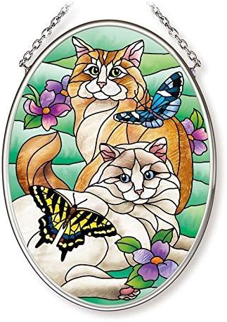 Amia Import Tiffany Garden Selling rankings Cat Small 4-1 Glass 2