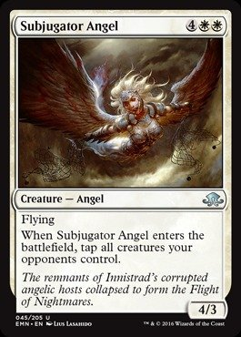 Magic The Gathering - Subjugator Angel (045/205) - Eldritch Moon