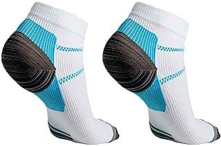 Gankmachine 1 par Unisex del pie Calcetines de compresión Anticansancio Fascitis Plantar del talón Spurs Dolor Calcetines ...