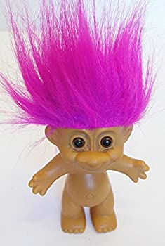 Russ Magenta Pink Haired Troll Doll 4.5  Tall with Hair 6  Tall