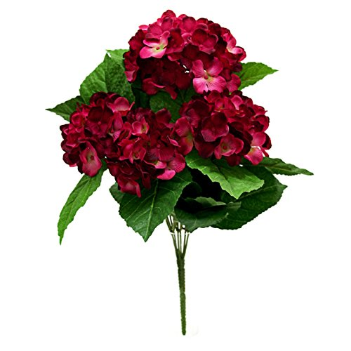 Country Baskets Fleurs Artificielles Bouquet Hortensia Prune
