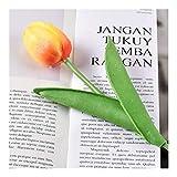 LANTIANXIAN 10Pcs künstliche Blumen-Weiß Real Touch for Hauptdekoration Künstlich Latex Blumen-Blumenstrauß-Hochzeit Gartendeko (Farbe : Orange, Größe : 10 pcs)
