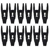 KingYH Paquete de 12 clips de terciopelo para colgar colgadores, color negro,...
