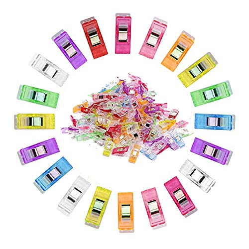 100PCS Colorful Craft Sewing Clips for Quilting,Multipurpose Sewing Accessories Sewing Clips Wonder Clips
