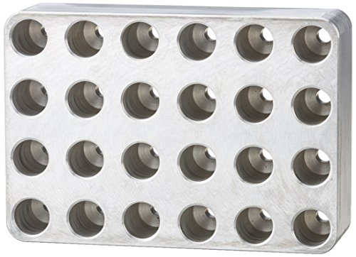 Neolab 7blocco di alluminio 8008MTP stampo, 4x 6Kryor Eye piccolo foro per 1–2ml