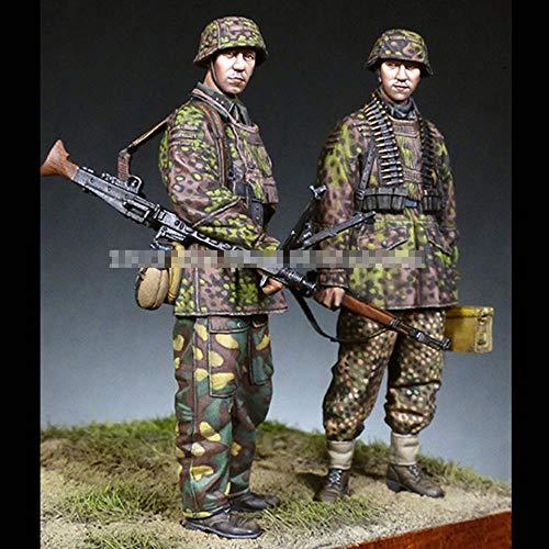 CHOUDOUFU Sculpture Figurine Ornament 1/35 World War Ii Machine Gunner Soldier, Resin Model Soldier, Gk, Military Theme, Unassembled And Unpainted Kit