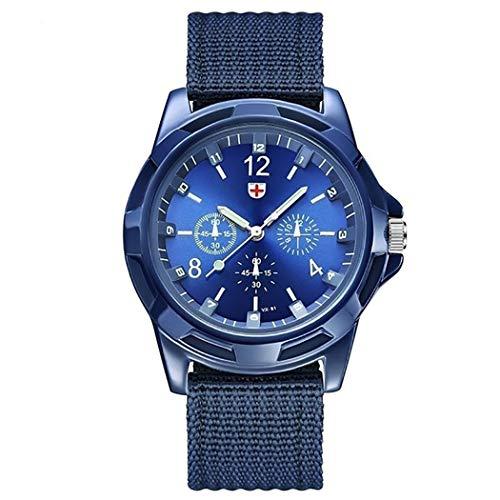 Sivane Reloj de Pulsera de Cuarzo clásico con Correa Trenzada de Nylon para Hombres Relojes de Pulsera