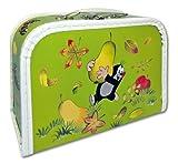 """Koffer 25 cm Kinderkoffer - Puppenkoffer """"Krtek"""" der kleine Maulwurf in hellgrün"""