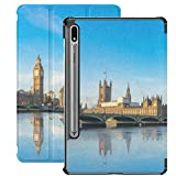 Estuche para Galaxy Tab S7 Estuche Delgado y liviano con Soporte Estuche para Samsung Galaxy Tab S7 Tablet 11 Pulgadas Sm-t870 Sm-t875 Sm-t878 2020 Release, Big Ben Westminster Parliament Colorful SK