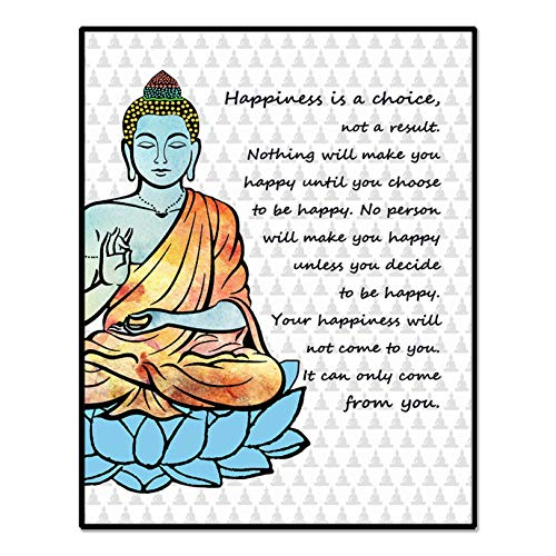 Happiness is a Choice, Buddha Quotes Art Print, Buddha Wall Art, Home Art Print, Studio Office Wall Decor, Happiness Quote, 8x10 Inch Unframed