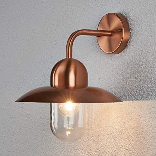 Lindby Wandleuchte 'Camila' dimmbar (spritzwassergeschützt) (Modern) in Kupfer aus Metall (1 flammig, E27, A++) - Kupfer/Messing Wandleuchten, Wandlampe