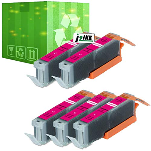 J2INK 5 Pack Ink for Canon CLI-251XL Magenta Pixma IP7220 MG5420 MG6320 MX722 MX922 Massachusetts