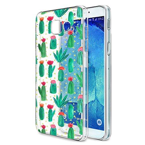 Eouine Funda Samsung Galaxy A5 2017, Cárcasa Silicona 3D Transparente con Dibujos Diseño Suave Gel TPU [Antigolpes] de Protector Bumper Case Cover Fundas para Movil Samsung Galaxy A5 2017 (Cactus)