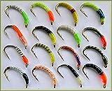 Arc fishing supplies Epoxy Signalempfänger, Forelle, Fliegen Fliegenfischen Fliegen. Set 85T X 16Fliegen. Haken Größe 12.