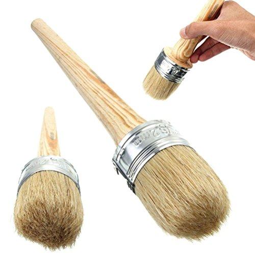 ULTNICE Pinceau pour peinture à la craie et à la cire pour meubles, pochoirs, artisanal, Décoration intérieure 40 mm