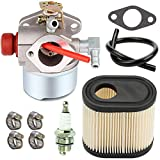 TOPEMAI LV195EA Carburetor for Tecumseh 640350 640303 640278 640271 640338 LEV120 LEV100 LV195XA 4 Cycle Vertical Engine with 36905 Air Filter