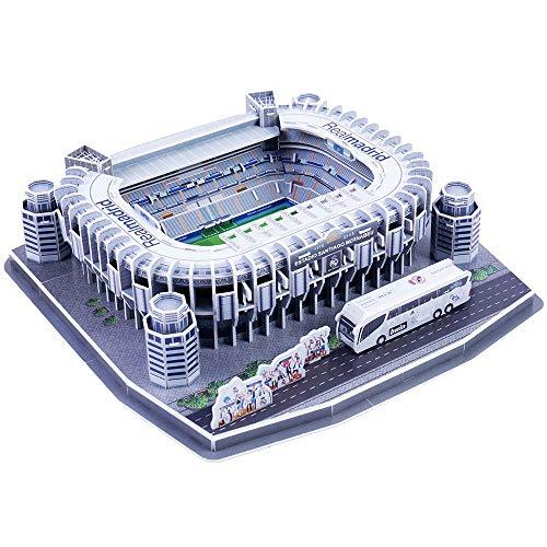 LIMEIE Puzzle 3D del Estadio, Estadio Santiago Bernabéu (Spain), Modelo Arquitectónico Clásico Mundial De Bricolaje, Rompecabezas Divertidos para Adultos Y Niños, Manualidades, Recuerdos De Regalo