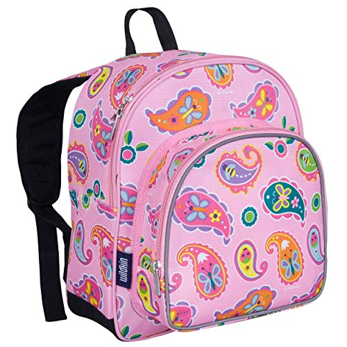 Wildkin 12 Inches Backpack for Toddlers, Boys and Girls, Ideal for Daycare, Preschool and Kindergarten, Perfect Size for School and Travel, Mom's Choice Award Winner, Olive Kids (Paisley)