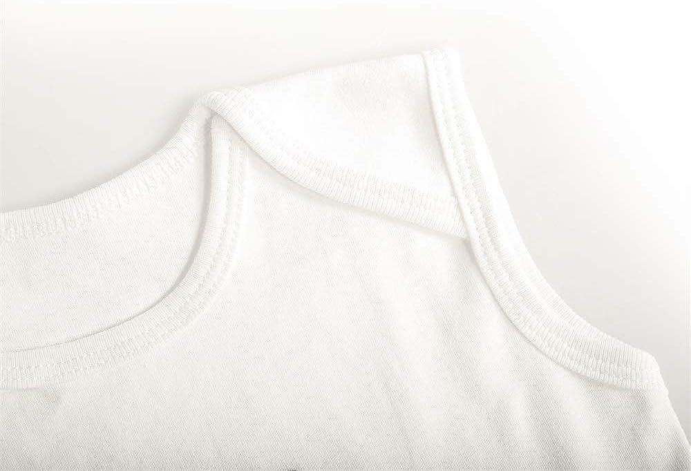WalterFanny Baby Bodysuit Sleeveless Cotton Breathable Baby Jumpsuit
