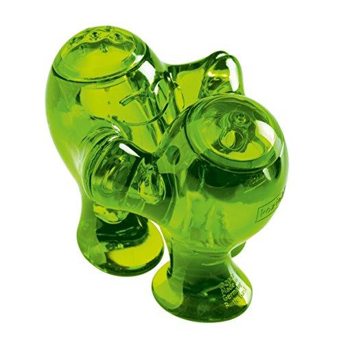 koziol Salz-/Pfefferstreuer Step'n'Pep, Kunststoff, transparent olivgrün, 6,7 x 11,5 x 8 cm