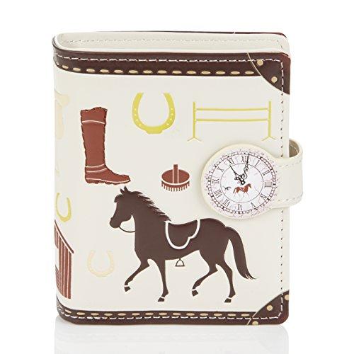 Shagwear ® Portemonnaie Geldbörse Damen Geldbeutel Mädchen Bifold Mehrfarbig Portmonee Designs: (Pferde/Unbrideld Horses)