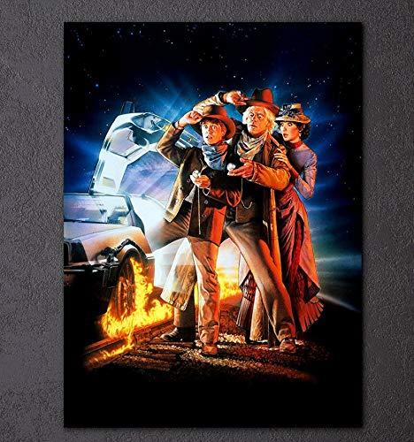 Wfmhra Impresión de Lienzo HD imprimible, póster de película Go To The Future, Imagen Mural, Arte de Sala de Estar colgado en Lienzo 50x75cm sin Marco