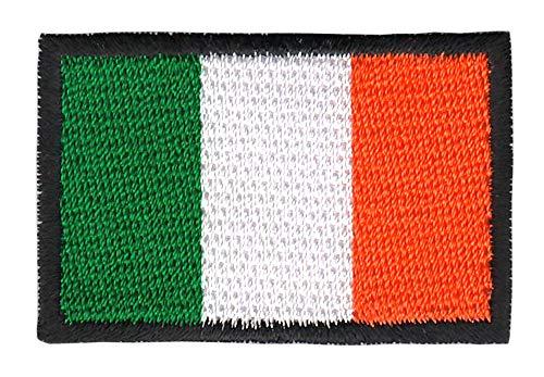 Patch Irland Flagge Klein Ireland Aufnäher Bügelbild Größe 4,5 x 3,0 cm