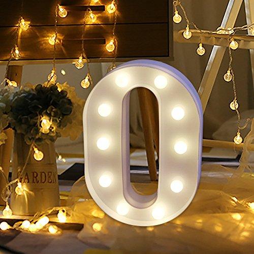 LED-Lichter, wuayi Alphabet Buchstaben dekorativ beleuchtet Buchstaben A-Z stehend warmes weißes...