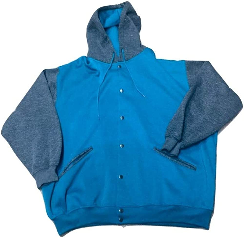 StoutMensShop Big and Tall Button Front Active Track Fleece Jacket