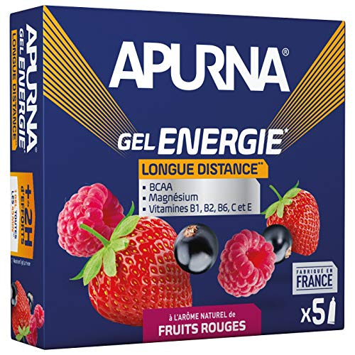 APURNA - GEL ENERGIE Longue distance FRUITS ROUGES - Energisant - Made in France - 5x35g