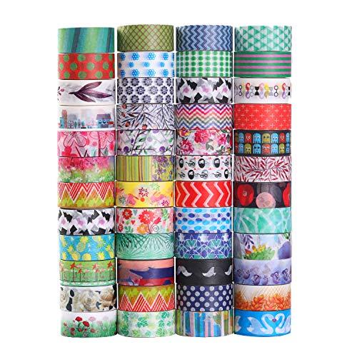 Dekoratives Washi-Klebeband, 48 Rollen, 15 mm breit, für DIY Scrapbooking, Büro, Party, Geschenkverpackung. 48 Farbe