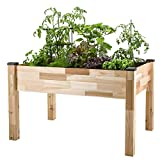 CedarCraft Elevated Cedar Planter (18' x 34' x 30') - Grow Fresh...