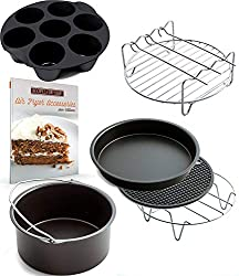 Accessories for XL air fryers by Cozyna, also compatible with Philips, Gowise, Power Air Fryer - click to see on Amazon