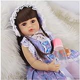 JLKDF Silicona De Cuerpo Entero Renacida, 22 Inch 55 Cm MuñEca Realmente Grande, con Accesorios para Vestidos De Princesa Bebe Reborn Silicona, Children's Toys