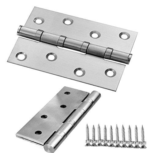 Euro Tische 2X Scharnier Edelstahl ideal für Innen- & Außenbereich - Stabile Scharniere für Türen & Fenster - 125 x 73 x 2 mm