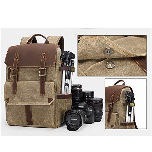 GNSDA Camera Rugzak, Laptop Tas met Waterdichte Regenhoes Statiefhouder, gebruikt met de meeste camera's waterdicht en vuilafstotend