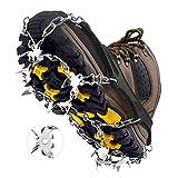MIABOO - Ramponi da Ghiaccio con 19 Punte in Acciaio Inox e Silicone Resistente, per Camminate, Jogging, Arrampicata ed Escursionismo, XL