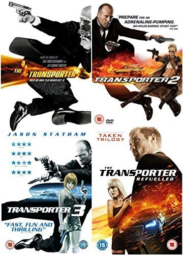 Complete Transporter Quadrilogy: The Transporter / The Transporter 2 / The Transporter 3 / The Transporter Refuelled DVD Collection + Extras by Ed Skrein