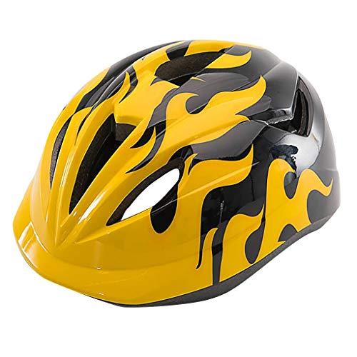 Sayla Fahrrad Kinderhelm Integralhelm Fahrrad Downhill Helm - Geeignet für 46~55 cm Kopfumfang - Fahrradhelm Skaterhelm MTB BMX Kinder Jugendliche (Gelb)