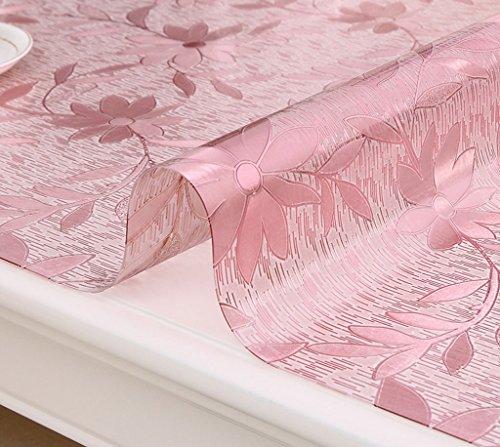 Nappes Tissu de table Runner - Tissu de table en plastique transparent, platine en plastique de table en cristal ( Couleur : A thickness of 1.0 mm , taille : 60*120cm )