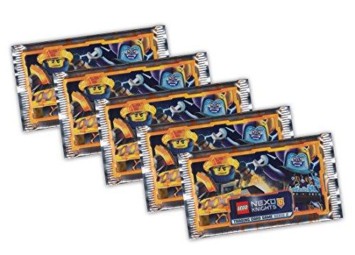 Blue Ocean - LEGO Nexo Knights (Serie 2) Sammelkarten - 5 Booster Packungen 25 Karten - Deutsche Ausgabe